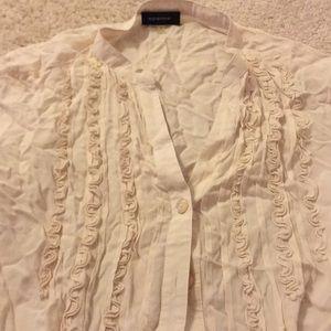Cream 3/4 blouse